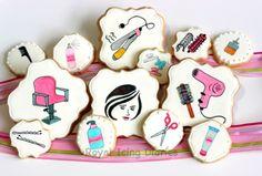 hair stylist cookies. Salon cookies