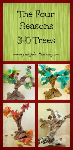 Just in time for fall! The Four Seasons 3-D Trees tutorial…