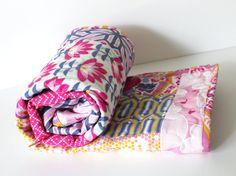Baby Girl Quilt Modern Baby Quilt Patchwork by GoBeWonderful