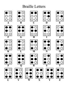 Braille Printables in . Alphabet Templates, Alphabet Charts, Tiger Scouts, Wolf Scouts, Cub Scouts, Helen Keller, Alfabeto Braille, Sign Language Colors, Visually Impaired Activities