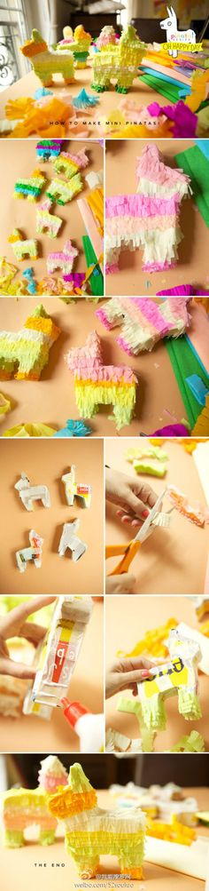 A great tutorial on how to make decorative mini Pinatas!