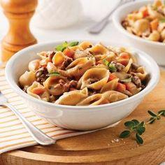 Coquilles au boeuf, sauce crémeuse - Soupers de semaine - Recettes 5-15 - Recettes express 5/15 - Pratico Pratique
