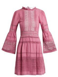 Ruffled macramé-lace cotton dress   Sea   MATCHESFASHION.COM US