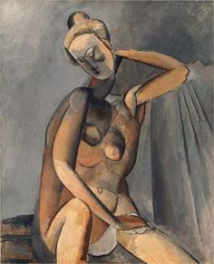 """Nude."" Pablo Picasso. I've always found Picasso's paintings interesting."