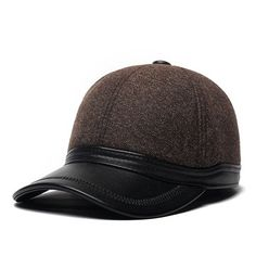 0f1efedcf56 Men Protect Ear Winter Adjustable Thickening Cotton Leather Warm  Comfortable Vintage Baseball Cap is hot sale on Newchic.