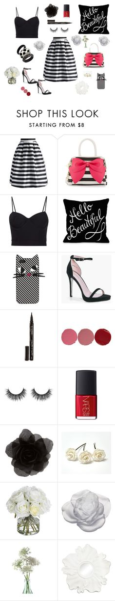 """""""Untitled #21"""" by aleks-sashka ❤ liked on Polyvore featuring Chicwish, Betsey Johnson, Alexander Wang, Lulu Guinness, Boohoo, Smith & Cult, Charlotte Tilbury, NARS Cosmetics, Accessorize and Diane James"""