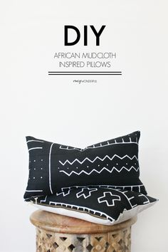 You may remember I did some DIY African mudcloth inspired pillows for our living room. You can check those out here. Well, I am still loving them like crazy and decided to make some more using a different technique for our dining room. They turned out pretty awesome! SOURCES: dining table // slipcovered head chairs …
