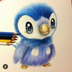 Blue penguin,instagram , beautiful draw