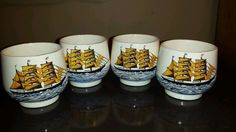 Hey, I found this really awesome Etsy listing at https://www.etsy.com/listing/220392220/sake-tea-cups-set-4-japanese-nautical