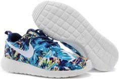 finest selection 204fb 4861e 2015 Nike Wmns Roshe Run Mens Shoes Discount Online Shop Couples Sneaker  Tropical Jungle Blue Nike