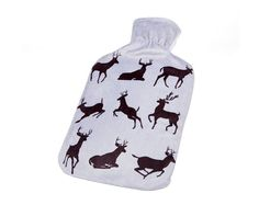 Reindeer Hot Water Bottle NOW £8 Perfect for those winter nights. Features a removable soft fleece reindeer print cover and 2L natural rubber hot water bottle. Size L32.5 x W19cm. Previous price from Autumn/Winter '14