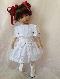 Heirloom Dress: White w/square collar