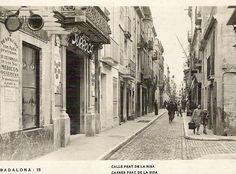 """1930, calle del Mar, a la derecha Canonge Baranera (d'en Cueta). #badalona…"