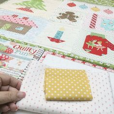 """Okay...here's my fabric pull for my Christmas Star block...who is sewing with me??? ✂️ Make ONE  twinkly winter star from page 36 of Quilty Fun.✂️ for border strips Cut 2- 1 1/2"""" x 3 1/2"""" for sides and 2- 1 1/2"""" x 5 1/2"""" for top and bottom:) ✂️ give me a shout out and let me know who I'm on retreat with!!!  #haveyourselfaquiltylittlechristmas"""
