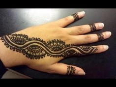 Arabic Henna Strip - Simple Pretty Henna Design - YouTube