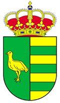 La avutarda figura en el escudo de la población madrileña de Parla.
