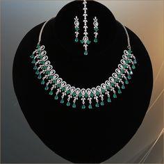 Wedding Jewellery Designs, Wedding Jewelry, Wedding Rings, American Diamond Jewellery, Diamond Jewelry, Jewelry Art, Fashion Jewelry, Fashion Wear, Indian Jewelry Sets