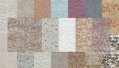 sims 2 palette: Brick wall set