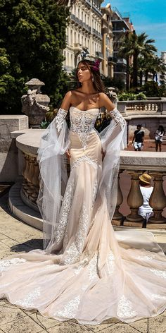 Hottest 27 Wedding Dresses Fall 2018 ❤ See more: http://www.weddingforward.com/wedding-dresses-fall-2018/ #weddingforward #bride #bridal #wedding