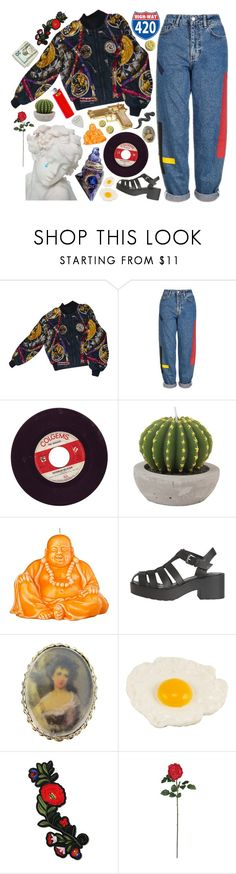 """super old draft"" by trashbud ❤ liked on Polyvore featuring Hermès, Topshop, Rock Rebel, All Day, Mario Luca Giusti, Windsor Smith, Vintage and Nearly Natural"