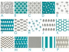 """Custom Cafe' Panels - (2) Curtain Panels - 25"""", 42"""" or 52"""" x 24"""" long -  You Pick the Fabrics - Teal Grey White on Etsy, $60.00"""