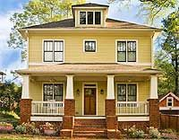 Traditional Four Square House Plan