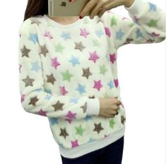 Cute Cartoon Print Soft Sweaters