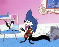 Warner Brothers Fine Art - Pepe Le Pew - Pepe Le Pew at the Louvre Pepe Le Pew, Foghorn Leghorn, Nostalgia, Looney Tunes Cartoons, Retro Cartoons, Old School Cartoons, Morning Cartoon, Simple Cartoon, Classic Cartoons