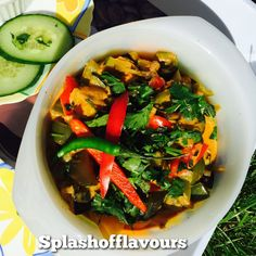 Crunchy Vegetables Curry inspired from the colors of my garden made with an Indian style It can be eaten with naan,paranthas,rice