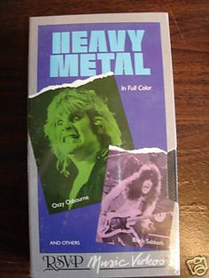 Black Sabbath / Ozzy Osbourne / Bullet  RSVP Music Videos: Heavy Metal  Split DVD/Video  1986
