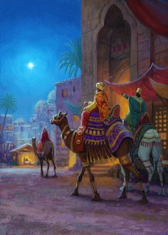 Leading Illustration & Publishing Agency based in London, New York & Marbella. Book Illustration, Digital Illustration, Illustrations, We Three Kings, Creation Photo, Bible Pictures, King Art, Favorite Cartoon Character, Arabic Art