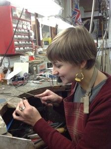 The lovely Katie working hard in the workshop, bringing our new jewellery to life! www.neweysjewellers.co.uk