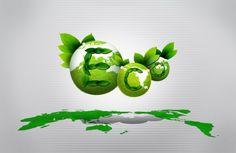 Environmental poster PSD design materials