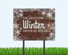 Winter specials never looked so pretty! Get your bandit signs from the Sprout…