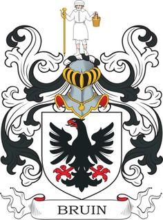 Bruin familiewapen - Bruin coat of arms - wapenschild - heraldiek