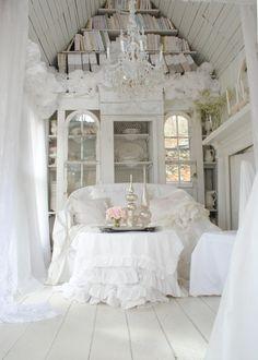 Shabby-chic Style Living Room Sandy Foster - My Shabby Streamside Studio