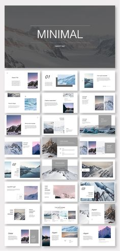 Clean & Cold Photo Layout Presentation Template – Original and high quality PowerPoint Templates download #presentation #fashion #PowerPoint #design #template #ppt #art #simple