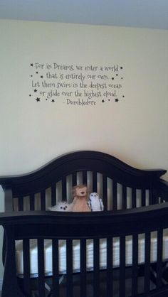 Dumbledore quote for a nursery. There MUST be Harry Potter elements in my children's rooms.