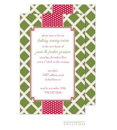 Christmas Party Invitations - perfect for open house, cocktail, family parties, corporate events, small office holiday party
