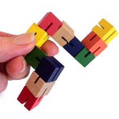 FlexiBlox Wooden Fidget Toy - stretch it, fold it, transform it into an endless variety of new 3-D shapes, without losing your learner's attention.