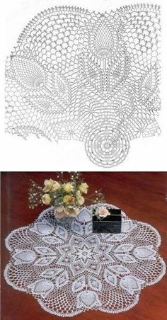 Learn to knit and Crochet with Jeanette: Patterns of crochet doilies. Crochet Tablecloth Pattern, Crochet Doily Diagram, Crochet Doily Patterns, Crochet Chart, Thread Crochet, Filet Crochet, Irish Crochet, Crochet Motif, Crochet Lace