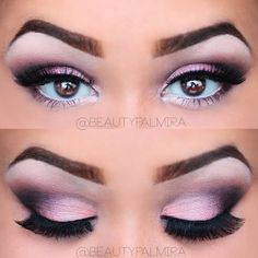 This pink sultry smokey eye is a perfect blend of light and dark. See 4 how to images, of delicate unique smokey eye make up look.