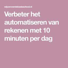 Verbeter het automatiseren van rekenen met 10 minuten per dag