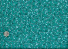 1/2 Yard Quilt Fabric Harlee Ditsy Teal Blue Fabric Cotton | auntiechrisquiltfabric - Craft Supplies on ArtFire