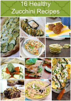 Have to try these with all our zucchini! Healthy Zucchini Recipes Low Calorie, Low Fat Breakfast, lunch,dinner or dessert