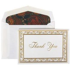 Thank You card set, perfect to send to guests after an Autumn wedding