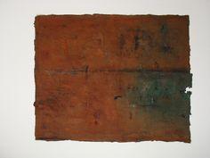 """""untitled"" mix media on cotton wool,  size :24''x30'', 2009."