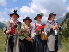 FolkCostume&Embroidery: Costumes of Tyrol Cowboy Hats, Culture, Costumes, Embroidery, Austria, German, Southern, Deutsch, Needlepoint