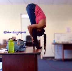 Office yoga! Get up & stretch! Touch those toes! Your body will thank you :)
