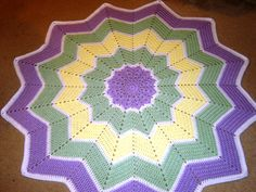 Rainbow Ripple Baby Afghan for Maria's daughter.
